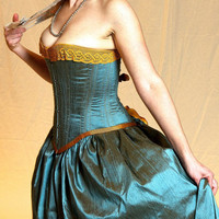 Mermaid Steampunk Corset Wedding Dress by LaBelleFairy on Etsy
