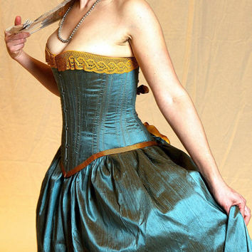 Victorian Mermaid Steampunk Corset Wedding Dress by labellefairy