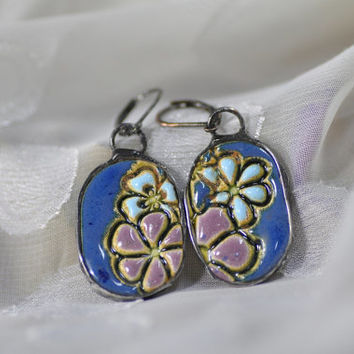 jewelry author, earrings, unique earrings, ceramic earrings, colorful earrings, zolanna, hand made earrings, earrings tiffany, zolanna