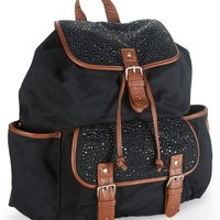 Sequin-Studded Canvas Backpack