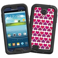 """Hearts White """"Protective Decal Skin"""" for LifeProof fre/nuud Samsung Galaxy S4 Case"""