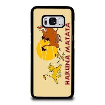 HAKUNA MATATA LION KING Disney Samsung Galaxy S3 S4 S5 S6 S7 Edge S8 Plus, Note 3 4 5 8 Case Cover
