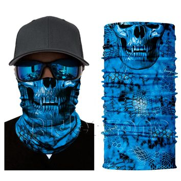 Face Shield Mask - Blue Skull - Bandana Fishing / Hunting / Motorcycle