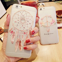 Cute Hot Deal On Sale Iphone 6/6s Stylish Silicone Iphone Transparent Apple Soft Simple Design Innovative Phone Case [8365216001]