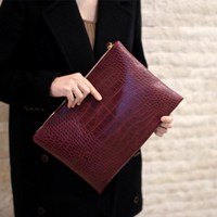 Clutches Evening Bag leather Envelope