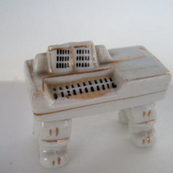 Vintage Porcelain Mini Piano Made In Occupied Japan