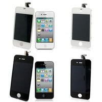 New LCD Touch Screen Digitizer Assembly GSM Screen Protector For iPhone 4 4G 4S