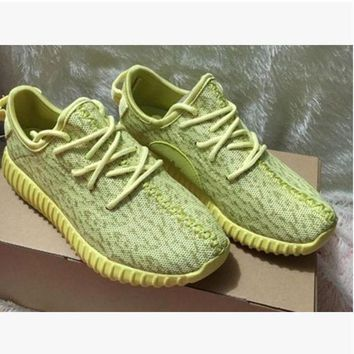 PEAP2 Fashion 'Adidas' Yeezy Boost Solid color Leisure Sports shoes Yellow T