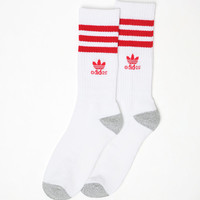 adidas Roller White and Red Crew Socks at PacSun.com