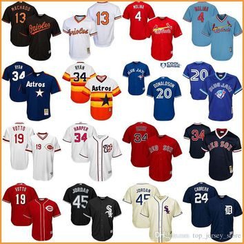 Jordan throwback baseball jerseys Harper Yadier Molina Joey Votto Red Sox Ortiz Oriole