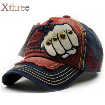 Fist with Skull - Baseball Cap - Cotton - Snapback - XTHREE