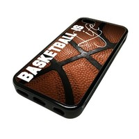 Apple iPhone 5C 5 C Case Cover BasketBall Is Life Baller Ball Quote Cute DESIGN BLACK RUBBER SILICONE Teen Gift Vintage Hipster Fashion Design Art Print Cell Phone Accessories