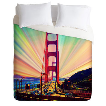 Shannon Clark Colorful Commute Duvet Cover