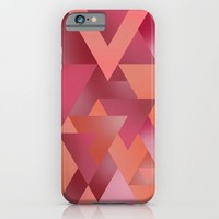 Triangles4 - Berry iPhone & iPod Case by Niki Scordalakes