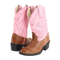 Old West Kids Boots J Toe Western Boot (Toddler/Little Kid) Tan Canyon/Pink - Zappos.com Free Shipping BOTH Ways