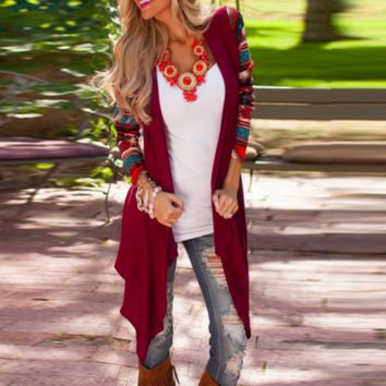 Loose Knitted Boho Patchwork Cardigan