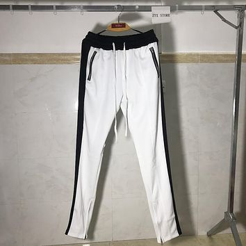 FOG Track Pants New Colour White& Navy Blue Delivery Now Fear Of God Zipper Pants Best Quality