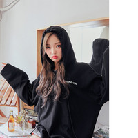 Buy chuu 'I LOVE YOU' Printed Hooded Pullover | YesStyle