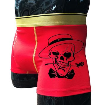 Men Skull Rose Boxer Shorts cotton underpants
