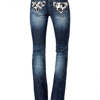 Miss Me Cowhide Pocket Jeans - Sheplers