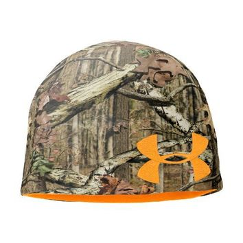 Men's Reversible Fleece Beanie Headwear by Under Armour One Size Fits All Mossy Oak Break-Up Infinity