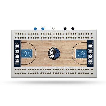 DALLAS MAVERICKS FIELD CRIBBAGE BOARD