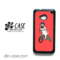 Pug Bicycle For HTC One M7 Case Phone Case Gift Present