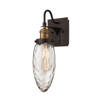Owen 1 Light Wall Sconce In Oil Rubbed Bronze And Antique Brass