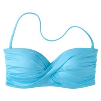 Mossimo® Women's Mix and Match Molded Cup Bandeau Swim Top -Cool Blue