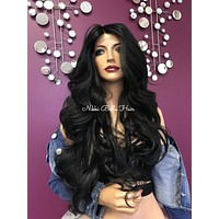 Black lace front wig| layered | Soft blended human hair| #11852 That's My Girl
