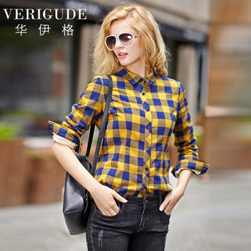 Veri Gude Women Plaid Shirt Fleece Lined Thick and Warm Winter Blouse