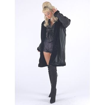 Black Gangsta Fur Coat