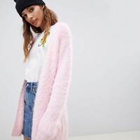 E.L.K fluffy knit oversized cardigan at asos.com