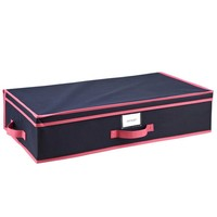 Under The Bed Storage Box - Navy/Fuchsia