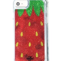 Strawberry Glitter iPhone Case