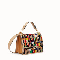 Multicolor leather and fabric bag - KAN I | Fendi | Fendi Online Store