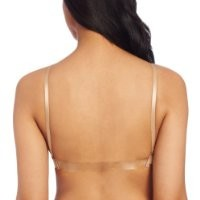 Capezio Women's Seamless Clear Back Bra With Transition Straps, Nude, Medium