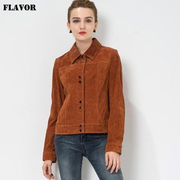 Trendy S-4XL Women's real leather jacket Pigskin motorcycle Genuine Leather jacket denim jacket coat women biker jackets autumn spring AT_94_13