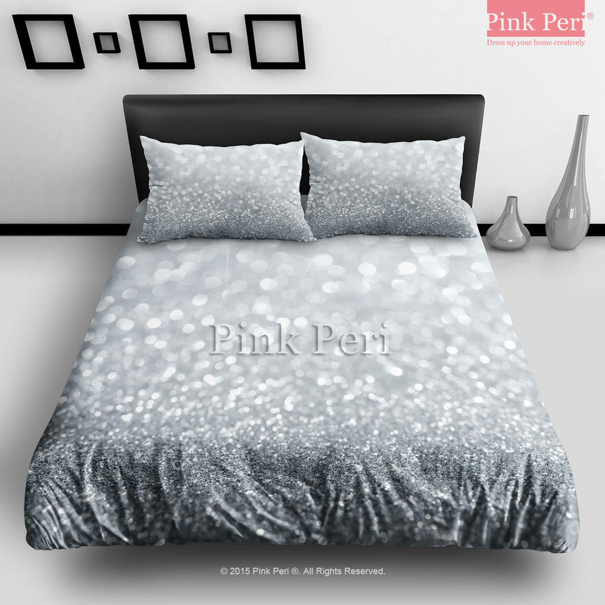 Bedroom Bed Photo Glitter Bedroom Accessories Pink Accent Wall Bedroom Bedroom Bench Decor: Silver Grey Sparkle Glitter Bedding Sets From Pink Peri