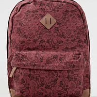 Burgundy Paisley Print Backpack - Bags - Shoes and Accessories - TOPMAN USA