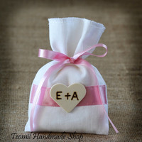 Personalized Wedding Favor Bags, Rustic Shabby Chic, Vintage Decor - SET OF 50