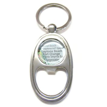 Daytona Beach Florida Map Bottle Opener Key Chain