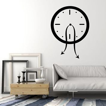 Vinyl Wall Decal Time Funny Clock Dial Art Home Decoration Stickers Mural (g185)