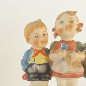 Vintage Hummel Style Boy and Girl Figurine, Made in Japan, Home Decor, Porcelain, Collectible Figurine