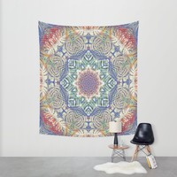 Jungle Kaleidoscope Wall Tapestry by ALLY COXON | Society6