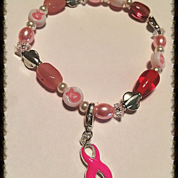Custom made Breast Cancer Awareness Bracelet