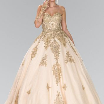 ce93040a07 Champagne gold quinceanera dress gls 2379