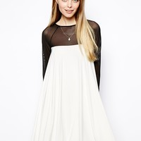 ASOS Mini Dress With Pleat Zip Back Detail