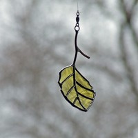 Recycled Glass Birch Leaf