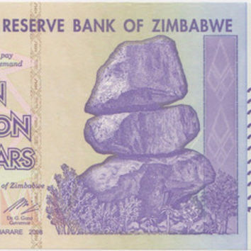 10 Billion Dollar Zimbabwe Bankote 5x